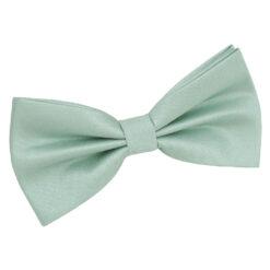 Dusty Green Plain Shantung Pre-Tied Bow Tie