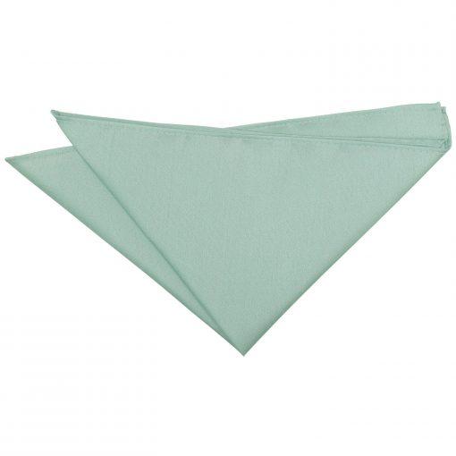 Dusty Green Plain Shantung Pocket Square