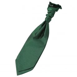 Emerald Green Plain Shantung Pre-Tied Wedding Cravat