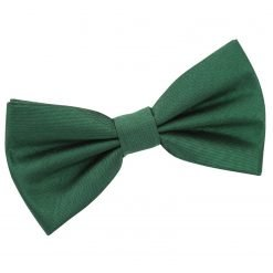 Emerald Green Plain Shantung Pre-Tied Bow Tie