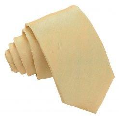Gold Plain Shantung Slim Tie