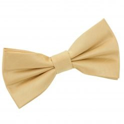 Gold Plain Shantung Pre-Tied Bow Tie