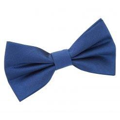 Navy Blue Plain Shantung Pre-Tied Bow Tie