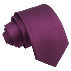 Orchid Plain Shantung Slim Tie