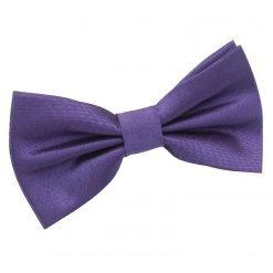 Cadbury Purple Plain Shantung Pre-Tied Bow Tie