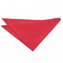 Red Plain Shantung Pocket Square