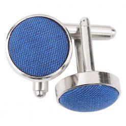 Royal Blue Plain Shantung Cufflinks