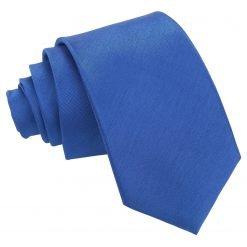 Royal Blue Plain Shantung Slim Tie