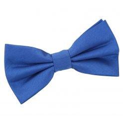 Royal Blue Plain Shantung Pre-Tied Bow Tie