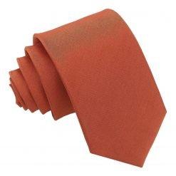 Rust Plain Shantung Slim Tie