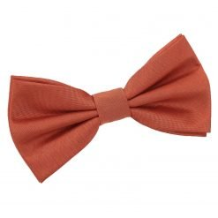 Rust Plain Shantung Pre-Tied Bow Tie
