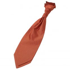 Rust Plain Shantung Pre-Tied Wedding Cravat