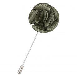 Sage Green Plain Shantung Lapel Pin