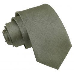 Sage Green Plain Shantung Slim Tie