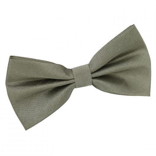 Sage Green Plain Shantung Pre-Tied Bow Tie