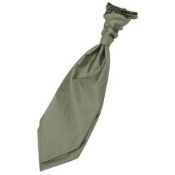 Sage Green Plain Shantung Pre-Tied Wedding Cravat