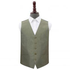 Sage Green Plain Shantung Wedding Waistcoat