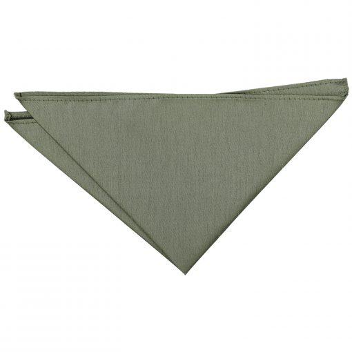 Sage Green Plain Shantung Pocket Square