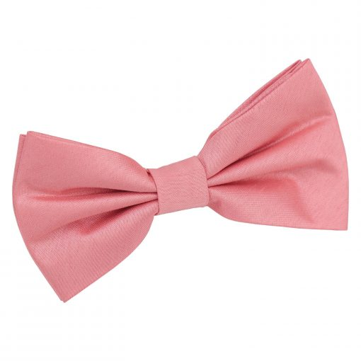 Salmon Pink Plain Shantung Pre-Tied Bow Tie