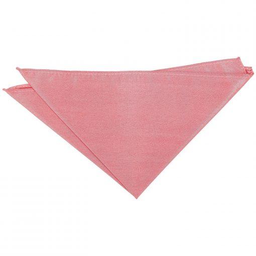Salmon Pink Plain Shantung Pocket Square