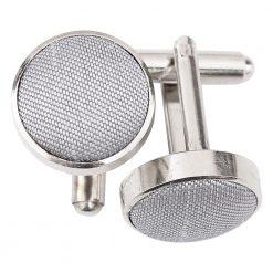 Silver Plain Shantung Cufflinks