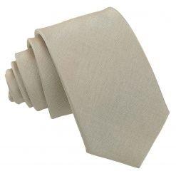 Taupe Plain Shantung Slim Tie