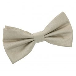Taupe Plain Shantung Pre-Tied Bow Tie