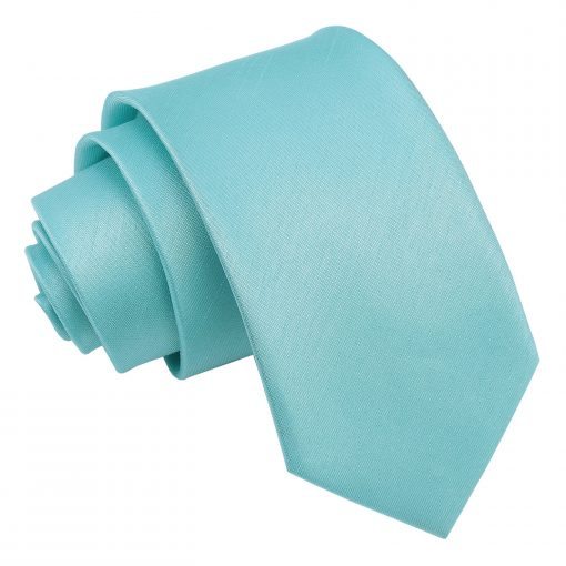 Tiffany Green Plain Shantung Slim Tie