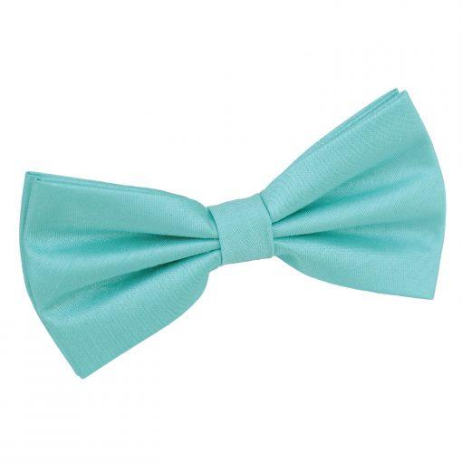Tiffany Green Plain Shantung Pre-Tied Bow Tie