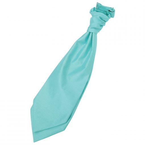 Turquoise Green Plain Shantung Pre-Tied Wedding Cravat