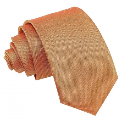 Turmeric Yellow Plain Shantung Slim Tie