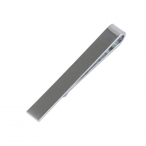 Silver Plain Metal Tie Clip