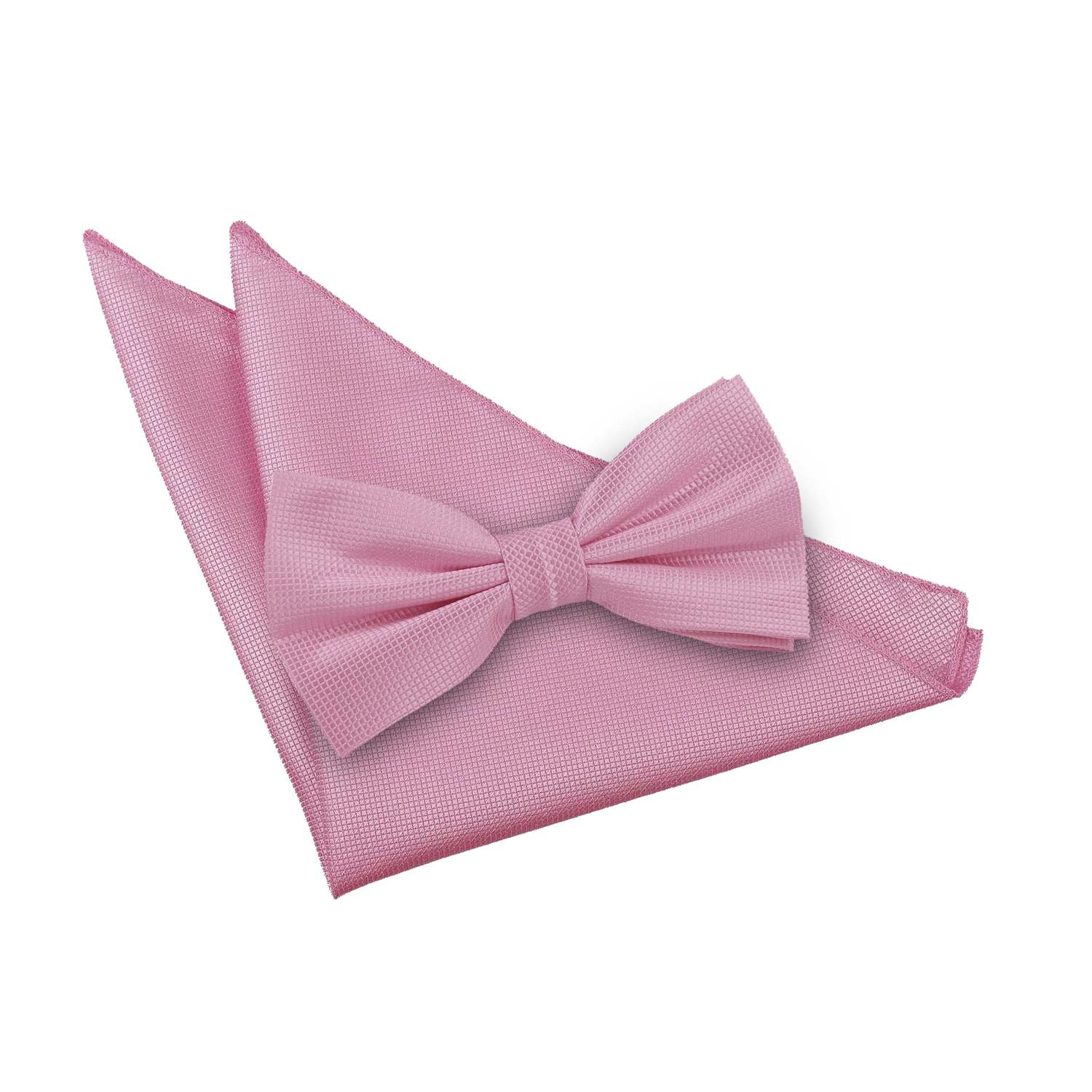 s solid check light pink bow tie 2 pc set