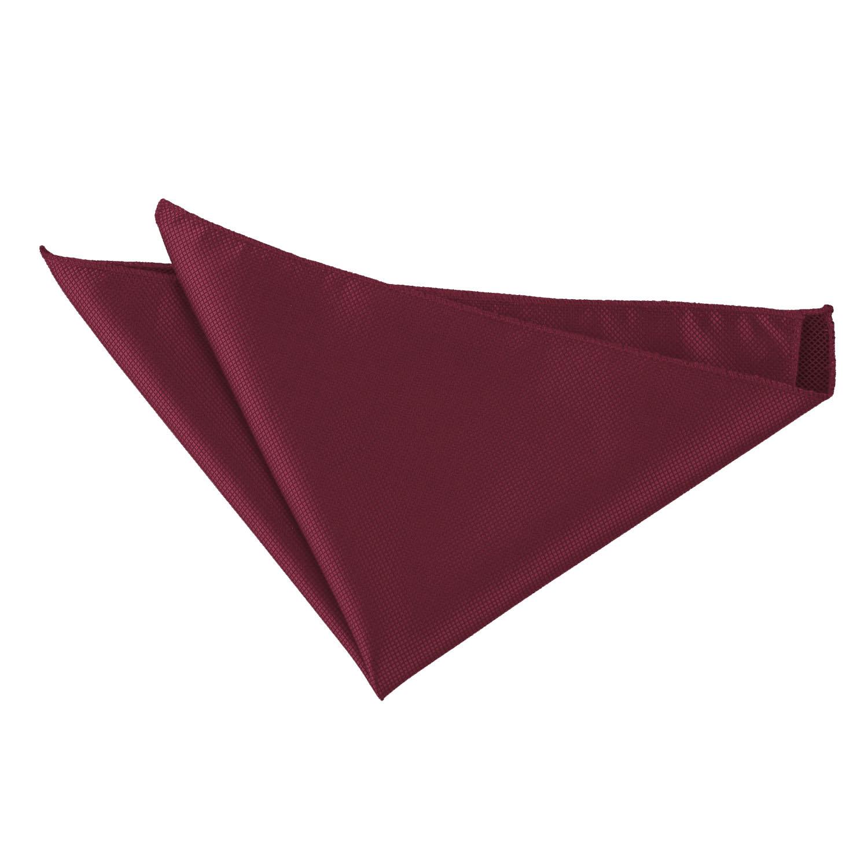 DQT Woven Polka Dot Dark Red Casual Handkerchief Hanky Pocket Square
