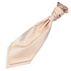 Champagne Solid Check Pre-Tied Wedding Cravat for Boys