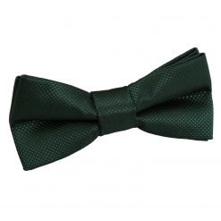 Dark Green Solid Check Pre-Tied Bow Tie for Boys