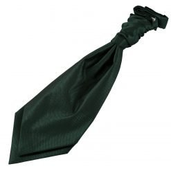 Dark Green Solid Check Pre-Tied Wedding Cravat for Boys