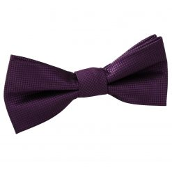 Burgundy Solid Check Pre-Tied Bow Tie for Boys