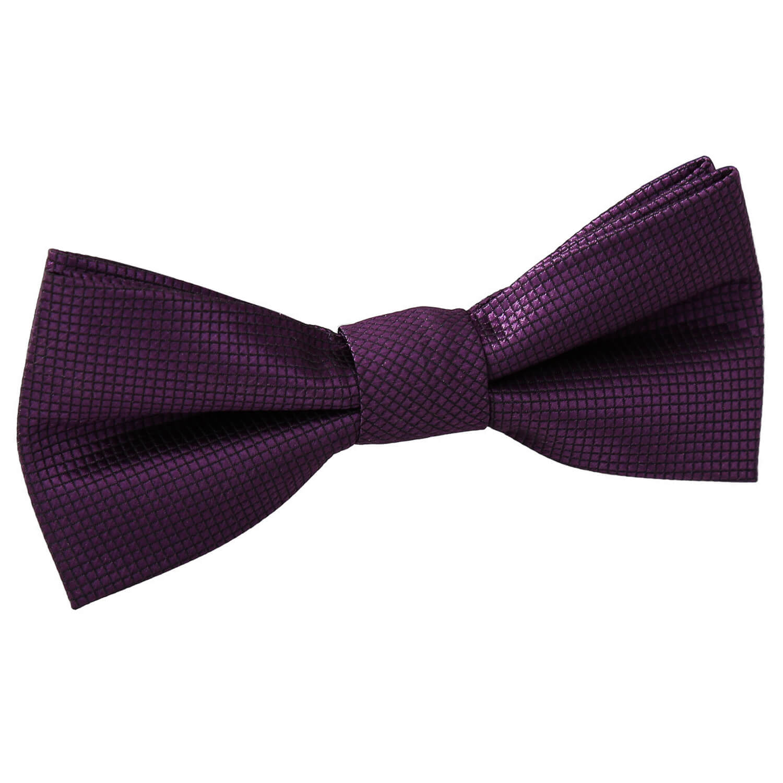 Solid Violet Kids Pre-Tied Bow Tie