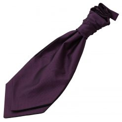 Cadbury Purple Solid Check Pre-Tied Wedding Cravat for Boys