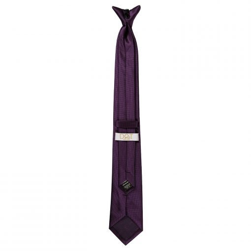 Cadbury Purple Solid Check Clip On Slim Tie
