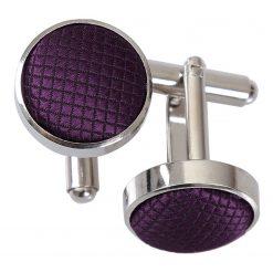 Cadbury Purple Solid Check Cufflinks