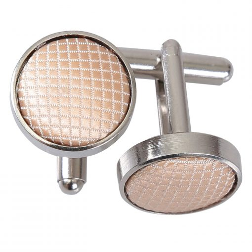 Champagne Solid Check Cufflinks