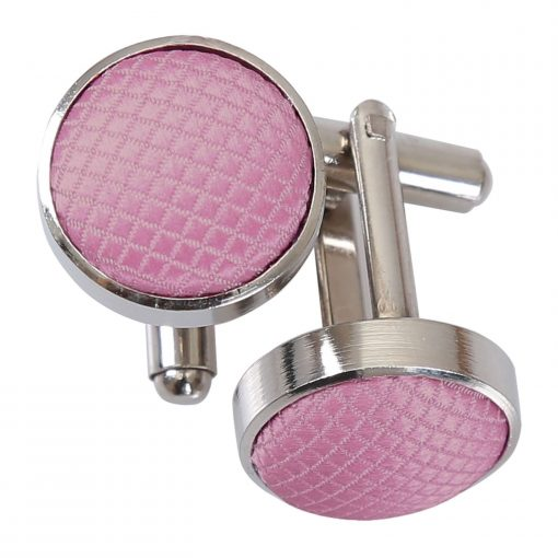 Light Pink Solid Check Cufflinks