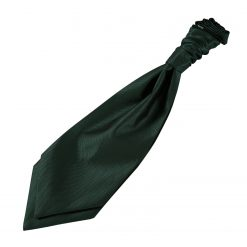 Dark Green Solid Check Pre-Tied Wedding Cravat