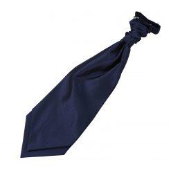 Navy Blue Solid Check Pre-Tied Wedding Cravat