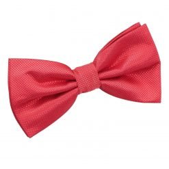 Red Solid Check Pre-Tied Bow Tie