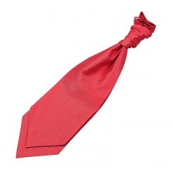 Red Solid Check Pre-Tied Wedding Cravat