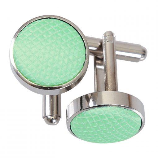 Mint Green Solid Check Cufflinks