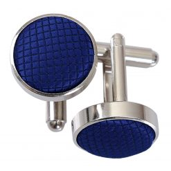Royal Blue Solid Check Cufflinks